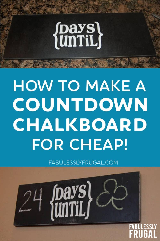 Countdown chalkboard sign