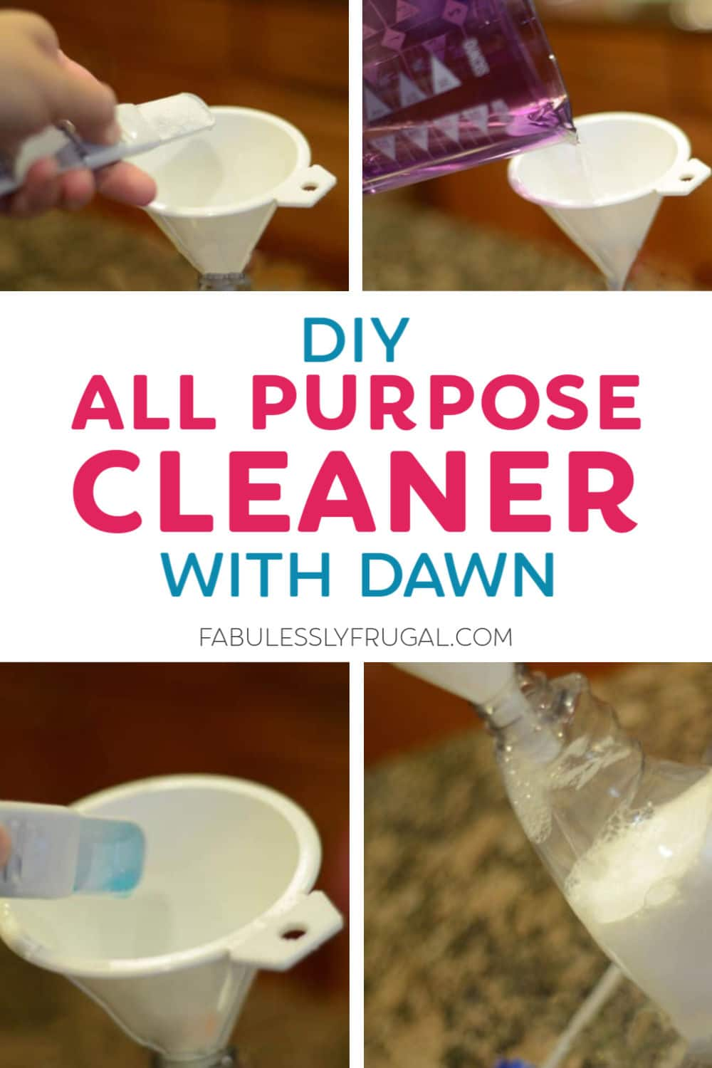 DIY all purpose cleaner with dawn