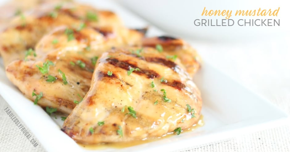 easy honey mustard grilled chicken