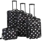 Amazon: Rockland 4 Piece Luggage Set, Black Dots $79.27 (Reg. $239.99)...