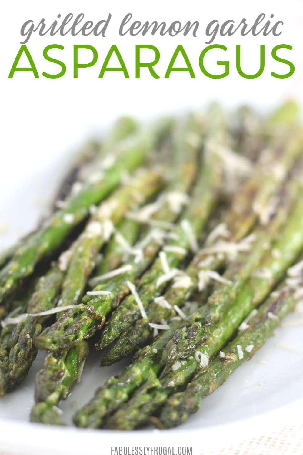 grilled asparagus with lemon and garlic recipe