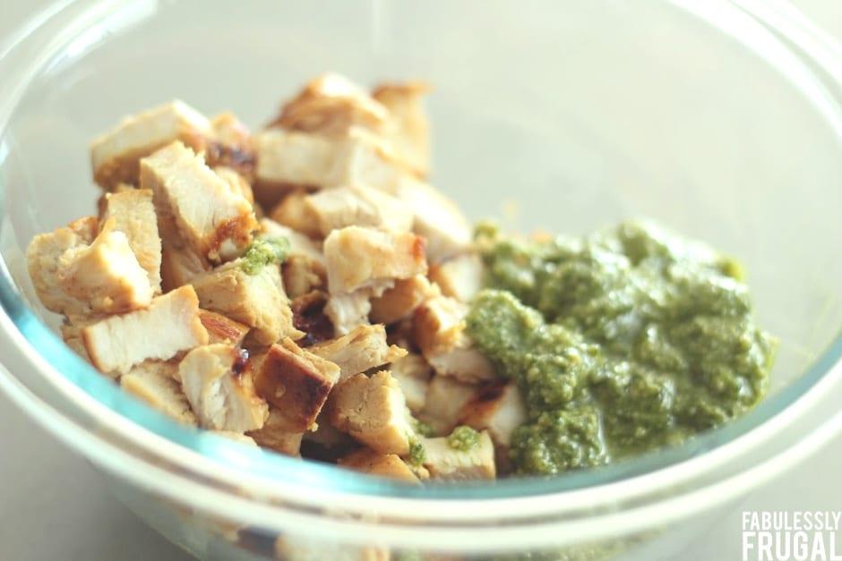 Grilled chicken pesto