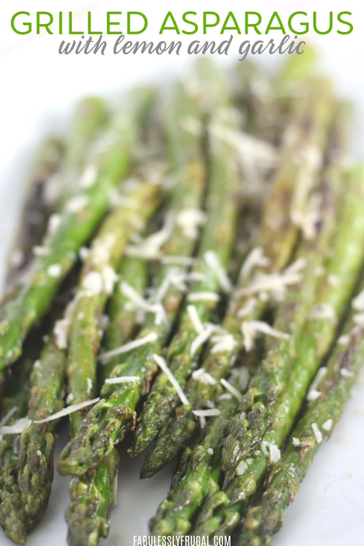 grilled lemon asparagus