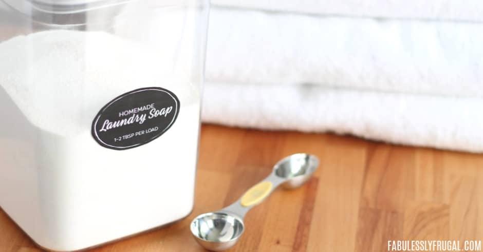 Homemade powder laundry soap