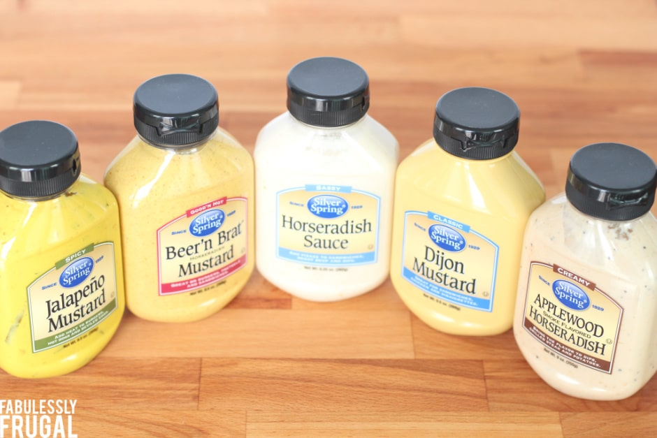 silver spring foods mustard and horseradish sauces