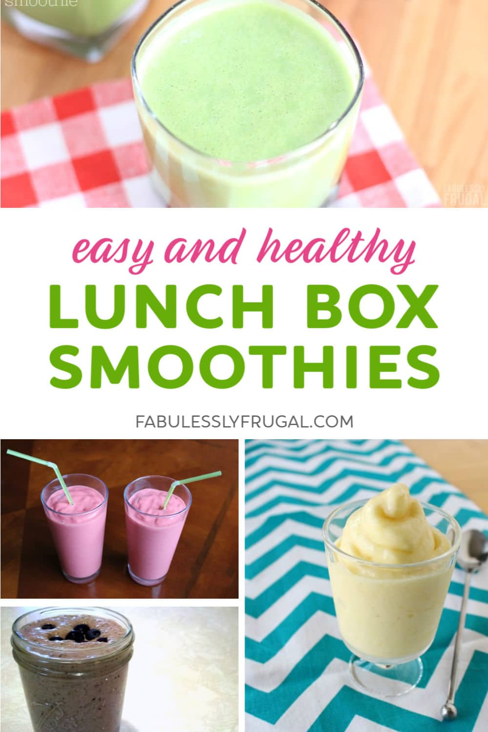 Smoothies for lunch
