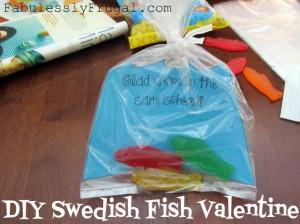 swedish fish valentine card