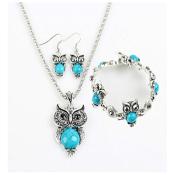 Amazon: Turquoise Owl Jewelry Set $3.57 (Reg. $12.24) + Free Shipping