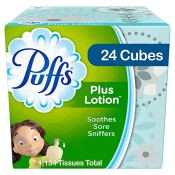 Amazon: 24 Cubes Puffs Plus Lotion Facial Tissues, 1344 Total Tissues $20...