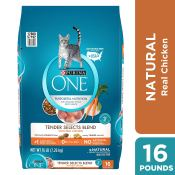 Amazon: 16 Lb Purina ONE Tender Selects Blend Adult Dry Cat Food as low...