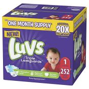 Amazon Prime: 252 count Luvs Diapers Size 1 as low as $10.12 (Reg. $28.92)...
