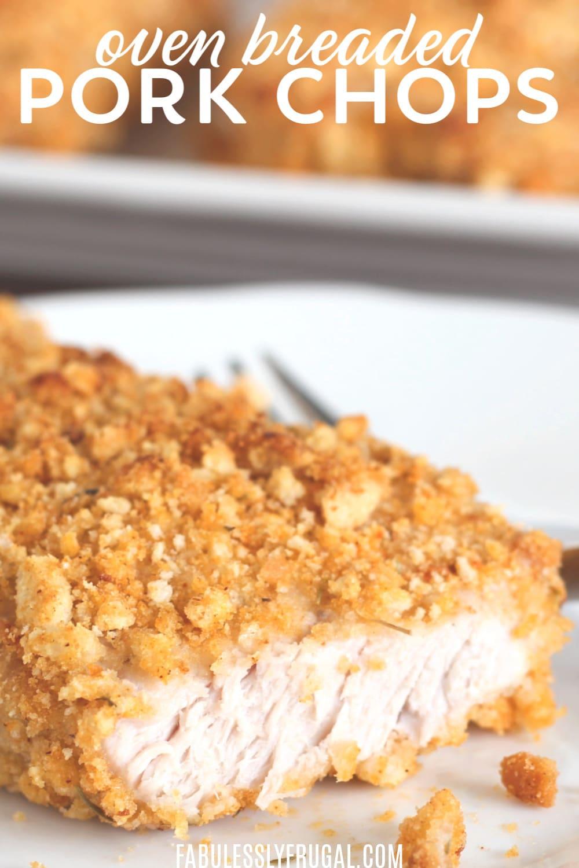 30 minute baked breaded pork chops