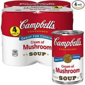 Amazon: 4 Pack Campbell's Condensed Cream of Mushroom Soup, 10.5 Oz as...