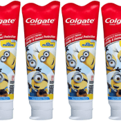 Amazonl: 4 Pack Colgate Kids Toothpaste with Anticavity Fluoride, Minions,...