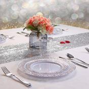 Amazon: 150PCS Silver Plastic Plates with Disposable Plastic Silverware...