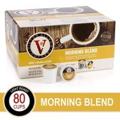 Amazon: 80 Count Victor Allen's Light Roast Single Serve Coffee Pods...