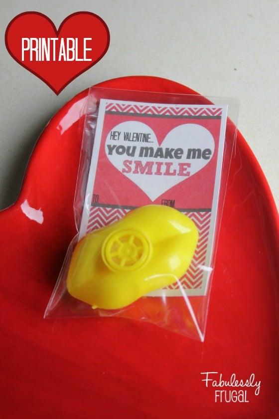 You make me smile Valentine