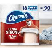 Amazon: Charmin Ultra Strong 18 Family Mega Rolls as low as $19.30 (Reg....