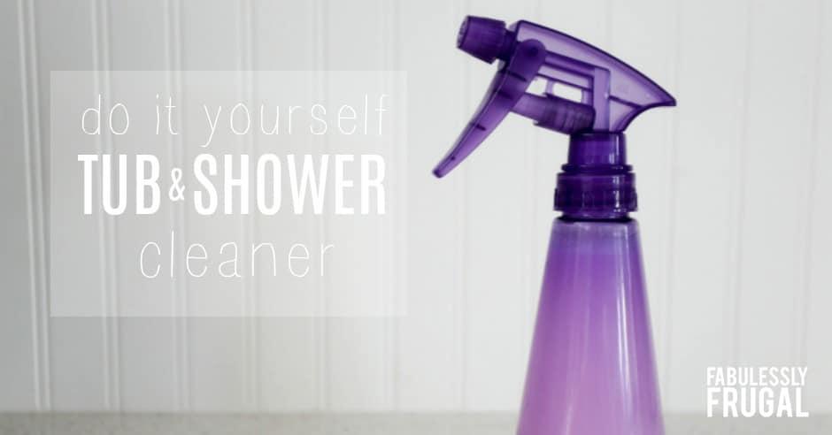 DIY shower cleaner spray