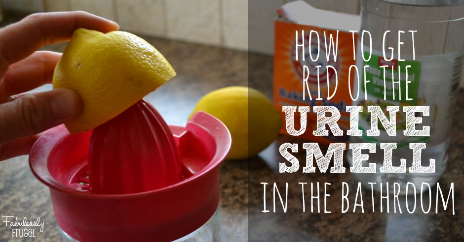 How to get rid of urine smell in the bathroom