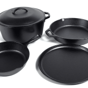 Amazon: Lodge Seasoned Cast Iron 5 Piece Bundle $67.79 (Reg. $150) + Free...