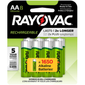 Amazon: 8-Count Rayovac Rechargeable AA Batteries as low as $11.71 (Reg....