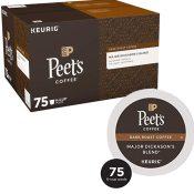 Amazon: Peet's Coffee K-Cups 75-Count Pack as low as $24.75 (Reg. $40)...