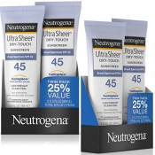 Amazon: 2Pack Neutrogena Ultra Sheer Dry-Touch SPF 45 Sunscreen as low...