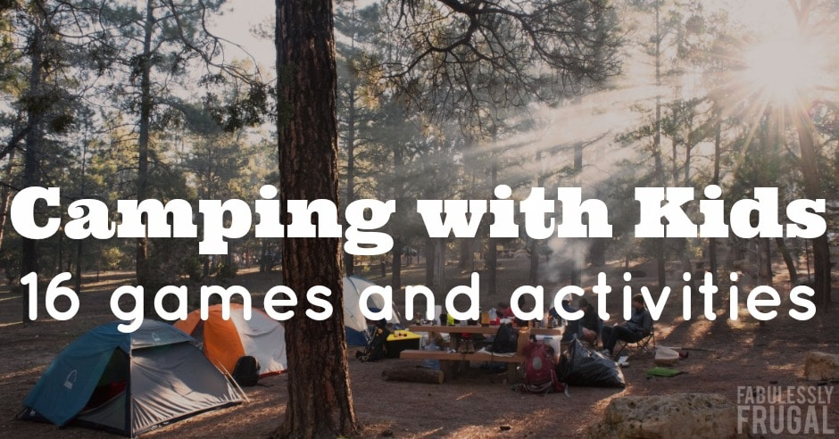 games and activities for camping with kids