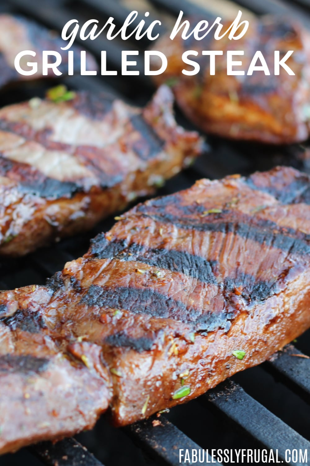 Garlic herb grilled steak tips recipe
