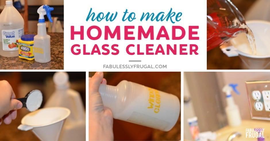 Homemade glass cleaner bathroom cleaning hacks