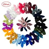 Amazon: 25 Pack Hair Scrunchies with Rabbit Ears $11.99 (Reg. $23.89)
