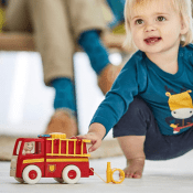 Amazon: 5-Piece Firetruck Toy with Accessories, Lights, and Sounds $7.32...