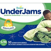 Amazon Prime: 50 Count Pampers UnderJams Disposable Bedtime Underwear for...
