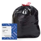 Amazon: 50 Count Solimo Multipurpose Drawstring Trash Bags, 30 Gallon as...