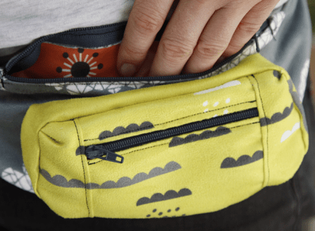 simple DIY fanny pack
