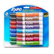 Amazon: EXPO Low Odor Dry Erase Markers, Chisel Tip, Assorted, 16 Count...