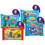 Amazon: 20 Snack Bags Nabisco Fun Shapes Cookie & Cracker Variety as low...