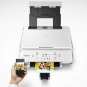 Amazon: Canon Wireless All-In-One Printer with Scanner and Copier, White...