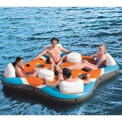 Amazon: CoolerZ Rapid Rider X4 Inflatable 4-Person Island Tube $64.99 (Reg....