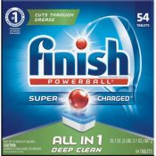 Amazon Prime: 54 Count Finish All in 1 Powerball Fresh Dishwasher Tabs...