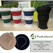 Amazon: Green Silicone 16oz Collapsible Travel Cup $6.93 (Reg. $18.95)