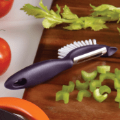 Amazon: Rachael Ray Tools & Gadgets Veg-A-Peel 3-In-1 Tool, Purple...