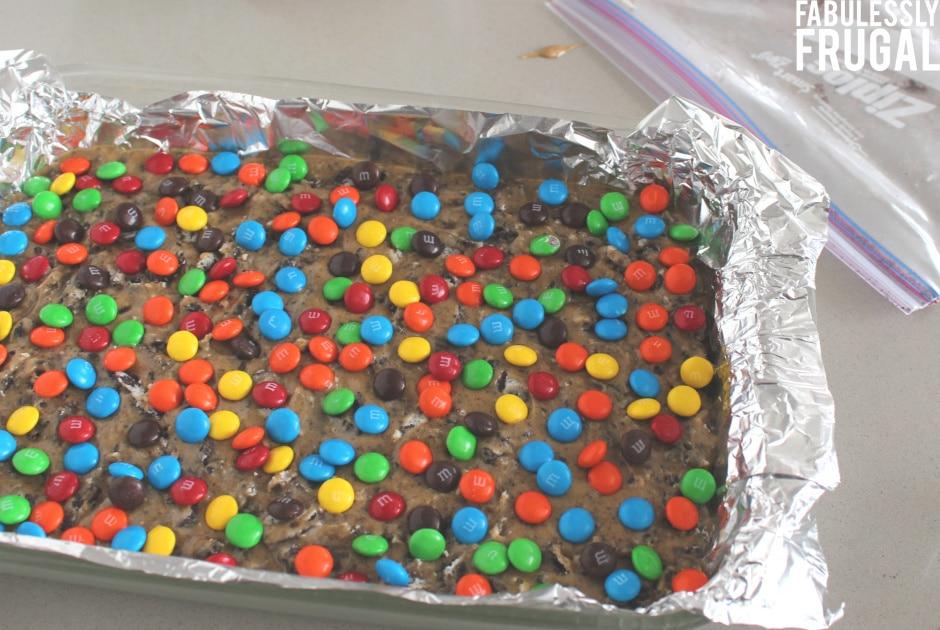 Oreo blondie cookies ready to bake
