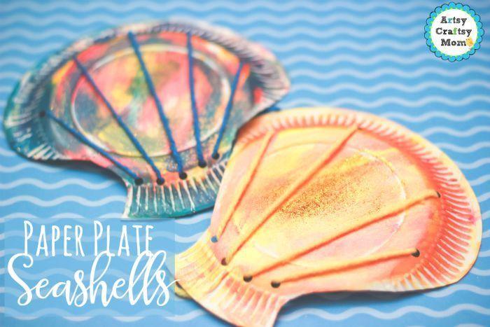 Paper plate seashells