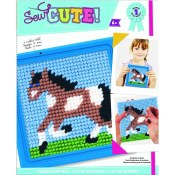 Amazon: Colorbok Horse Learn to Stitch Needlepoint Kit, 6-Inch by 6-Inch...