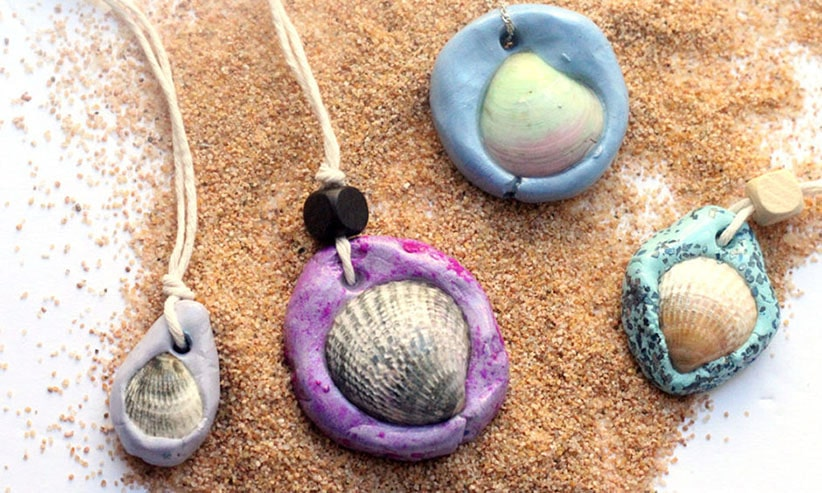 Seashell necklaces