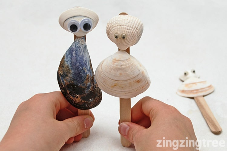 Seashell puppets