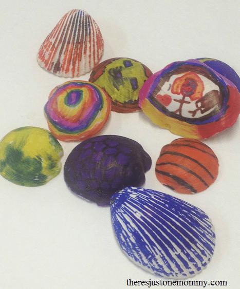 Sharpie seashells