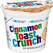 Amazon: 12 Count Cinnamon Toast Crunch Cereal Cups, 2-oz  as low as $10...